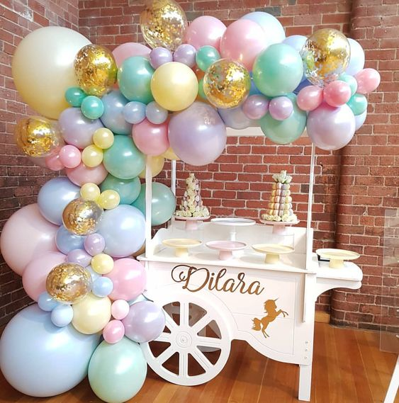 Candy Cart With Balloons Ideas